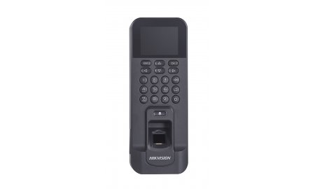 Hikvision DS-K1T804EF-1 stand alone codepaneel / keypad, vingerafdruk en RFID kaart lezer met LCD voor binnen TCP/IP