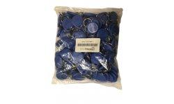 WL4 RFID tags blauw met key ring (100 stuks) met serienummer