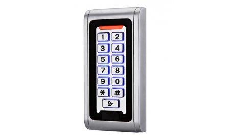 WL4 KPRO-1 stand alone toegangscontrole keypad, RFID kaartlezer, verlichting en deurbel geschikt voor buiten