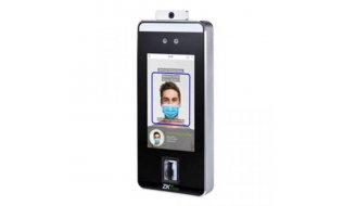 ZKTeco SpeedFace-V5L [TD] gezicht, palm ader en vingerafdruk lezer met mondkap detectie en lichaamstemperatuur - koortsdetectie