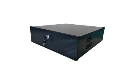 WL4 LB4U zware metalen 4U lock box safe met ventilator en sleutelslot voor NVR en DVR video recorders