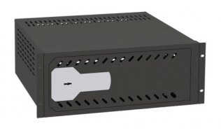 Ollé VR-190 kluis met sleutelslot voor video recorders voor montage in 19 rack