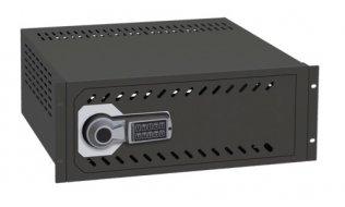 Ollé VR-190E kluis met electronisch slot met vertraging voor video recorders voor montage in 19 rack
