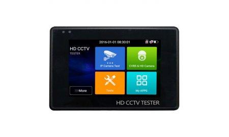 Safire SF-TESTER-ARM-5N1-4K professionele universele tester voor IP (Ultra HD 4K H.265), HDTVI, HDCVI, AHD, Analoog, ONVIF, CVBS met PoE, WiFi, microSD