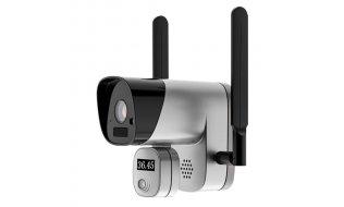 WL4 CBTW-1 accu WiFi IP camera 2MP met lichaamstemperatuur meting, microSD opname, 2-weg audio, mobile app - koortsdetectie