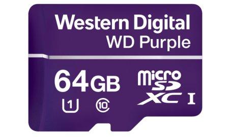 Western Digital WDD064G1P0A WD Purple 64GB microSD geheugenkaart voor bewakingscamera's