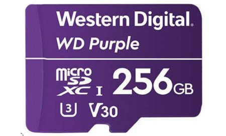 Western Digital WDD256G1P0A WD Purple 256GB microSD geheugenkaart voor bewakingscamera's