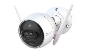 EZVIZ Hikvision C3X dual lens WiFi Dark Fighter Full HD 2MP bullet camera voor buiten met 2-weg audio en microSD slot