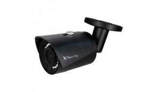 X-Security XS-IPCV026N-2-LITE Full HD 2MP zwarte buiten mini bullet camera met IR nachtzicht en PoE