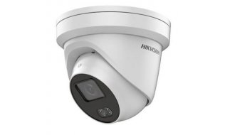 Hikvision DS-2CD2347G1-L ColorVu 4MP Full HD turret buiten camera met 4mm lens, wit LED nachtzicht, PoE, 120dB WDR en microSD opname