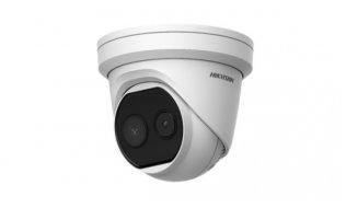 Hikvision DS-2TD1217-2/V1 Thermisch warmtebeeld en Optische 2MP buiten turret camera dual lens DeepinView serie