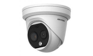 Hikvision DS-2TD1217-2/PA HeatPro thermisch warmtebeeld en optische 4MP buiten turret camera dual lens met audio en LED