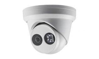 Hikvision DS-2CD2343G0-I 4MP Full HD dome buiten camera met 2.8mm lens, IR nachtzicht, PoE, 120dB WDR en microSD opname