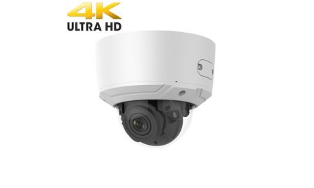 Safire SF-IPDM937ZAWH-8 Ultra HD 4K 8MP buiten dome met IR nachtzicht, gemotoriseerde varifocale lens, microSD, 120dB WDR, PoE, audio en alarm IO