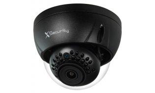 X-Security XS-IPDM843N-2-LITE Full HD 2MP zwarte buiten mini dome camera met IR nachtzicht en PoE