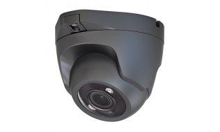 X-Security XSC-IPT821AHG-5E grijze Full HD 5MP buiten eyeball camera met IR nachtzicht, vaste lens, microfoon en PoE