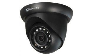 X-Security XS-IPDM741N-2-LITE Full HD 2MP zwarte buiten eyeball camera met IR nachtzicht en PoE