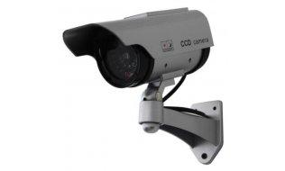 WL4 BDOS-LED-S realistische dummy zonnepaneel beveiligingscamera voor buiten en knipperende LED
