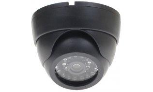WL4 EDI-LED-B zwarte realistische dummy beveiligingscamera voor binnen met knipperende LED