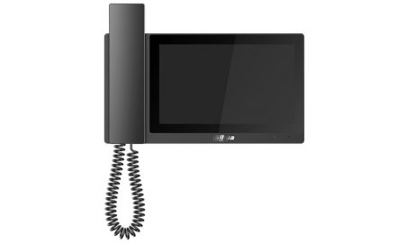 Dahua VTH5221E-H IP video intercom 7 inch touchscreen binnen monitor met hoorn en PoE (zwarte omlijsting)