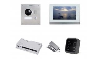 Dahua IP video intercom complete inbouw KIT met switch (netwerkkabel aansluiting)
