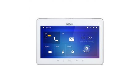 Dahua VTH5241DW IP video intercom 10 inch touchscreen WiFi binnen monitor met PoE (witte omlijsting)