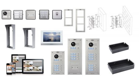 Dahua VTOB112 IP video intercom modulaire inbouw behuizing voor 3 modules