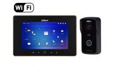 Dahua IP video intercom Wi-Fi kit met VTO2111D-WP-S1 buiten station en VTH5221D-S2 Wi-Fi monitor