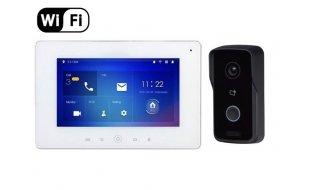 X-Security VTK-S2111-IPW-W IP video intercom Wi-Fi kit met VTO2111D-WP en VTH5221DW inclusief voeding