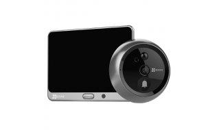 EZVIZ Hikvision DP1 Smart WiFi video deurbel en deurspion met monitor, app, PIR detector, IR nachtzicht en microSD slot