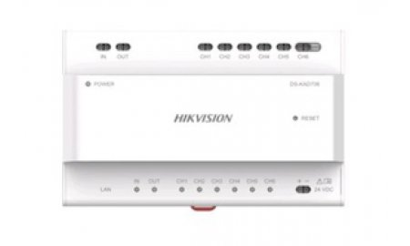 Hikvision DS-KAD706 Two-Wire IP Video Intercom Video Audio Distributor