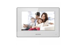 Hikvision DS-KH6320-WTE2-W witte IP video 2-wire intercom binnen monitor 7 inch touchscreen, PoE, WiFi