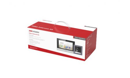 Hikvision DS-KIS602 complete IP video intercom bundel met opbouw DS-KD8003-IME1, DS-KH6320-WTE1, PoE switch en SD kaart