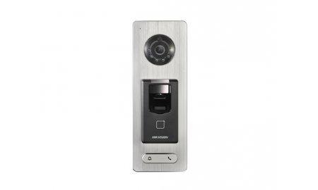 Hikvision DS-K1T501SF stand alone WiFi IP video intercom met gezichtsherkenning, QR code lezer, vingerafdruklezer en paslezer