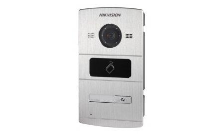 Hikvision DS-KV8102-IM buiten station met infrarood LED verlichting en kaartlezer en 1 drukknop