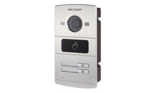 Hikvision DS-KV8202-IM buiten station met infrarood LED verlichting en kaartlezer en 2 drukknoppen