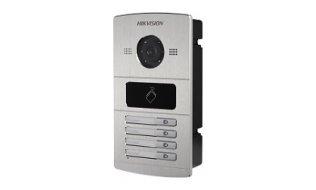 Hikvision DS-KV8402-IM buiten station met infrarood LED verlichting en kaartlezer en 4 drukknoppen