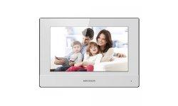 Hikvision DS-KH6320-WTE2-W witte IP video 2-wire intercom binnen monitor 7 inch touchscreen, PoE, WiFi