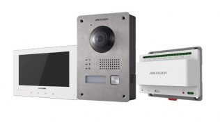 Hikvision DS-KIS701(O-STD)/EU-W Two-Wire IP video intercom bundel met DS-KV8103-IME2, DS-KH8340-TCE2(O-STD)/EU-W en DS-KAD709