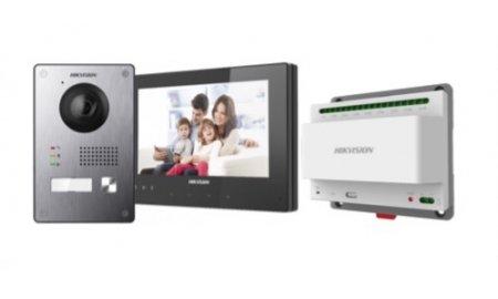 Hikvision DS-KIS701 Two-Wire IP video intercom bundel met DS-KV8103-IME2, DS-KH8340-TCE2 en DS-KAD709