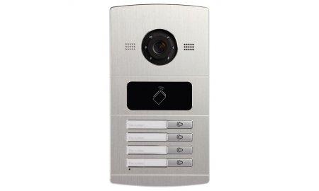 Safire SF-VI108E-IP buiten station met infrarood LED verlichting en kaartlezer en 4 drukknoppen