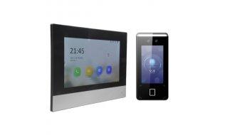 WL4 IPVIA-K1 IP video intercom toegangscontrole kit met gezichtsherkenning, QR, vingerafdruk en paslezer