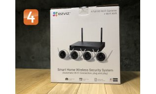 EZVIZ Hikvision Smart Home Wireless Security System met 4 x C3WN WiFi camera en 1x X5S-4W 4-kanaals WiFi recorder