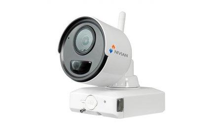 Nivian NV-IPB020A-2-BAT accu IP camera voor uitbreiding van de NV-KIT61-4C2M-BAT set