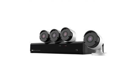 Nivian NV-KIT41-4CAM-5M bewakingscamera set met 4x 5MP bullet camera's en 4 kanaals PoE UltraHD 4K Netwerk Video Recorder