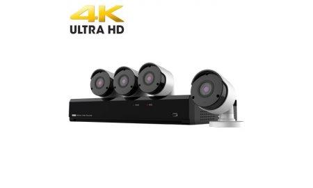 Nivian NV-KIT81-4CAM-8M bewakingscamera set met 4x 8MP 4K UltraHD bullet cameras en 8 kanaals PoE UltraHD 4K Netwerk Video Recorder