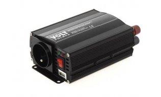 WL4 CONV-12-230-500 omvormer van 12VDC naar 230VAC maximaal 500Watt met USB aansluiting