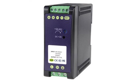 WL4 DC12V5A-DIN 12VDC/5A DIN rail voeding 60 Watt met 2 outputs
