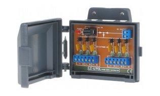 WL4 LZ-6/POL zesvoudige voeding verdeler met individuele zekeringen en doorlus mogelijkheid