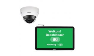Dahua Digital Signage monitor en varifocale camera People counting flow control COVID-19 bundel